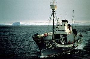 Walfänger auf dem Weg in die Antarktis