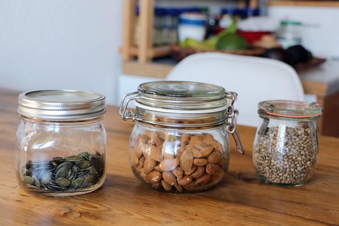 Glasbehälter für Lebensmittel-Vorräte