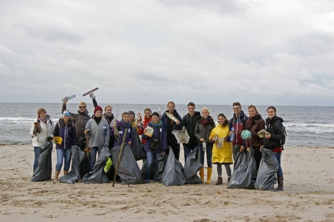 Gruppenfoto Beach Clean Up Sylt