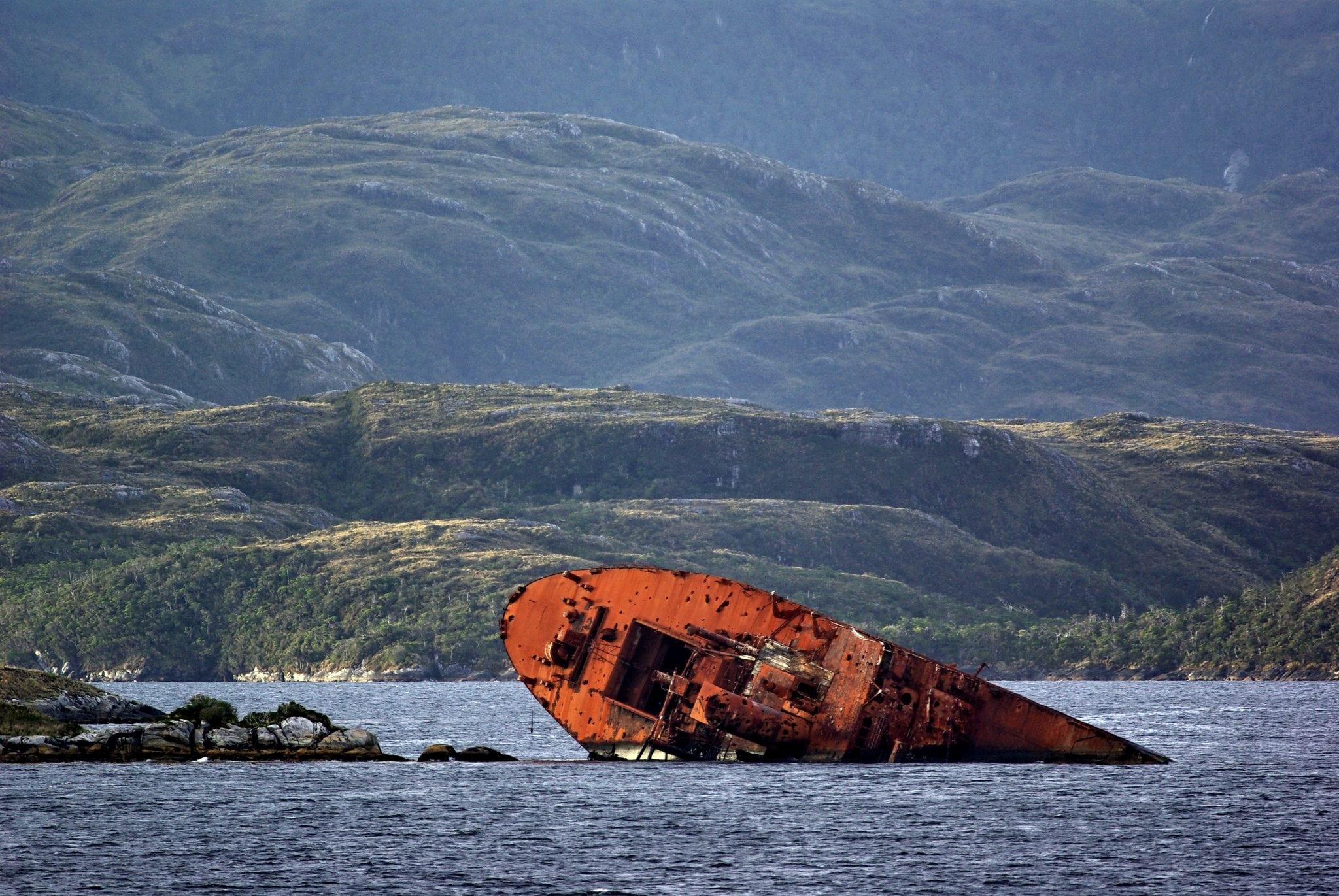 Schiffswrack Patagonien