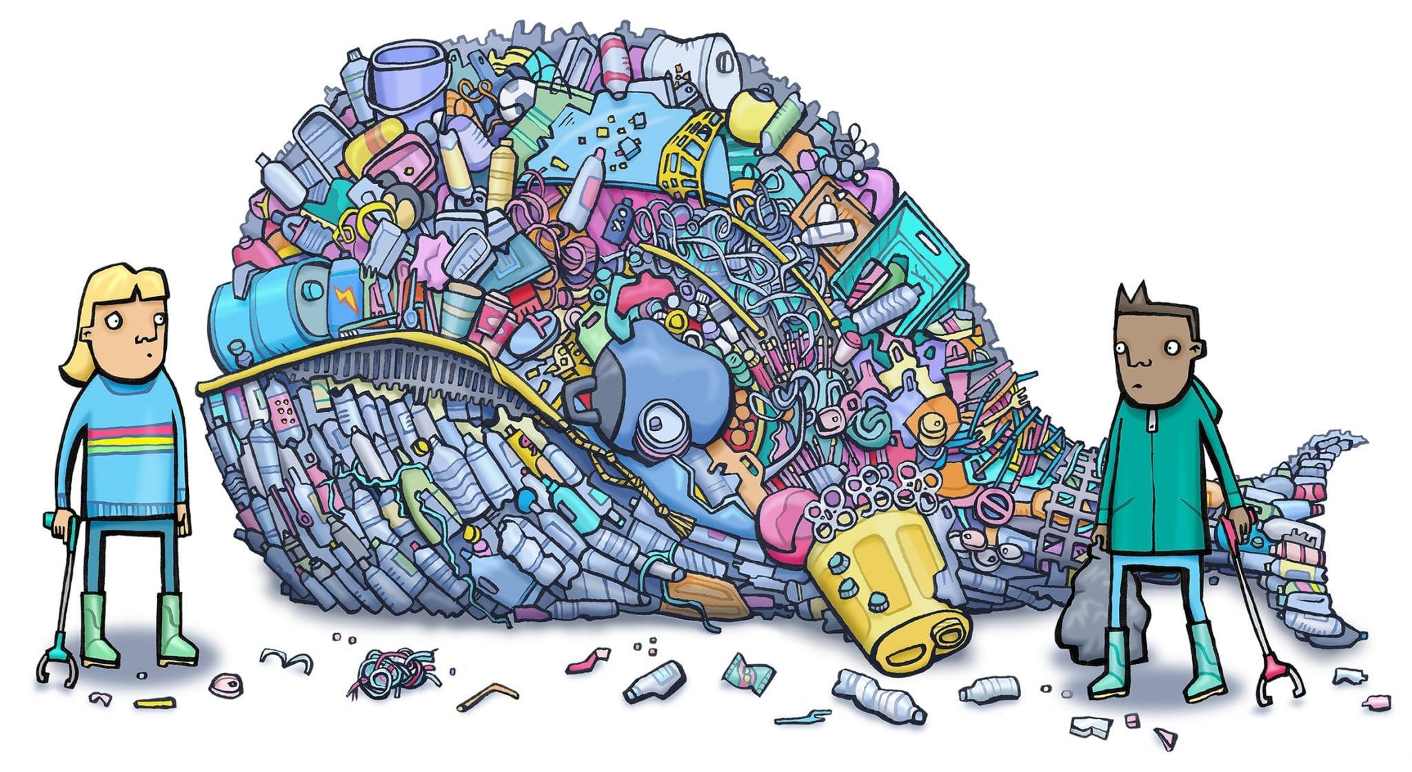 Plastikwal Grafik für Kinder