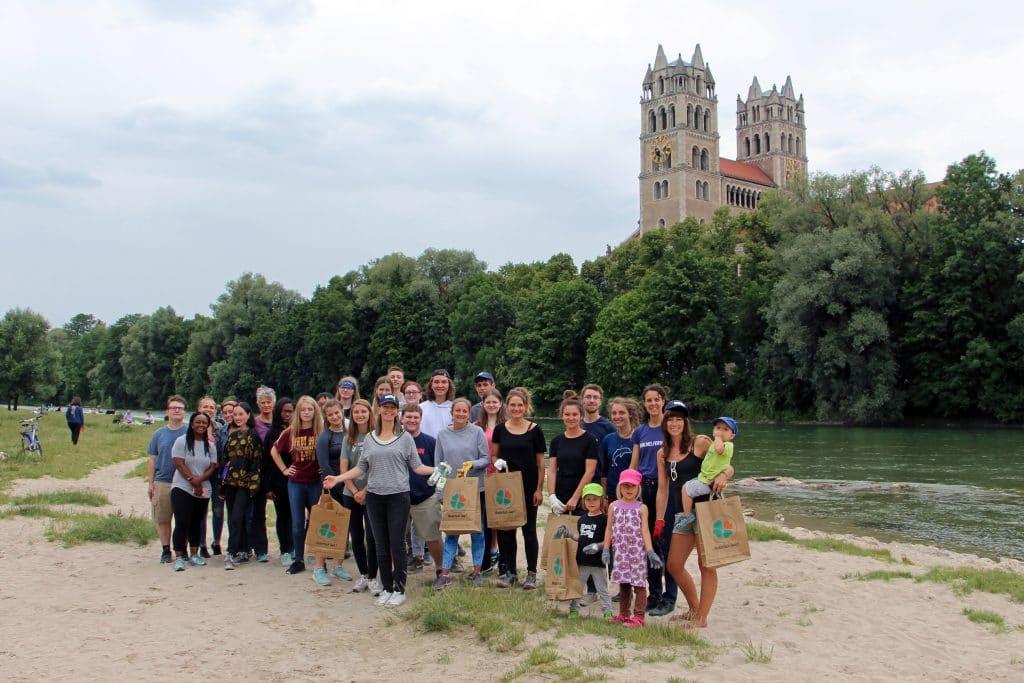 Gruppenfoto Urban Clean-Up WDC in München