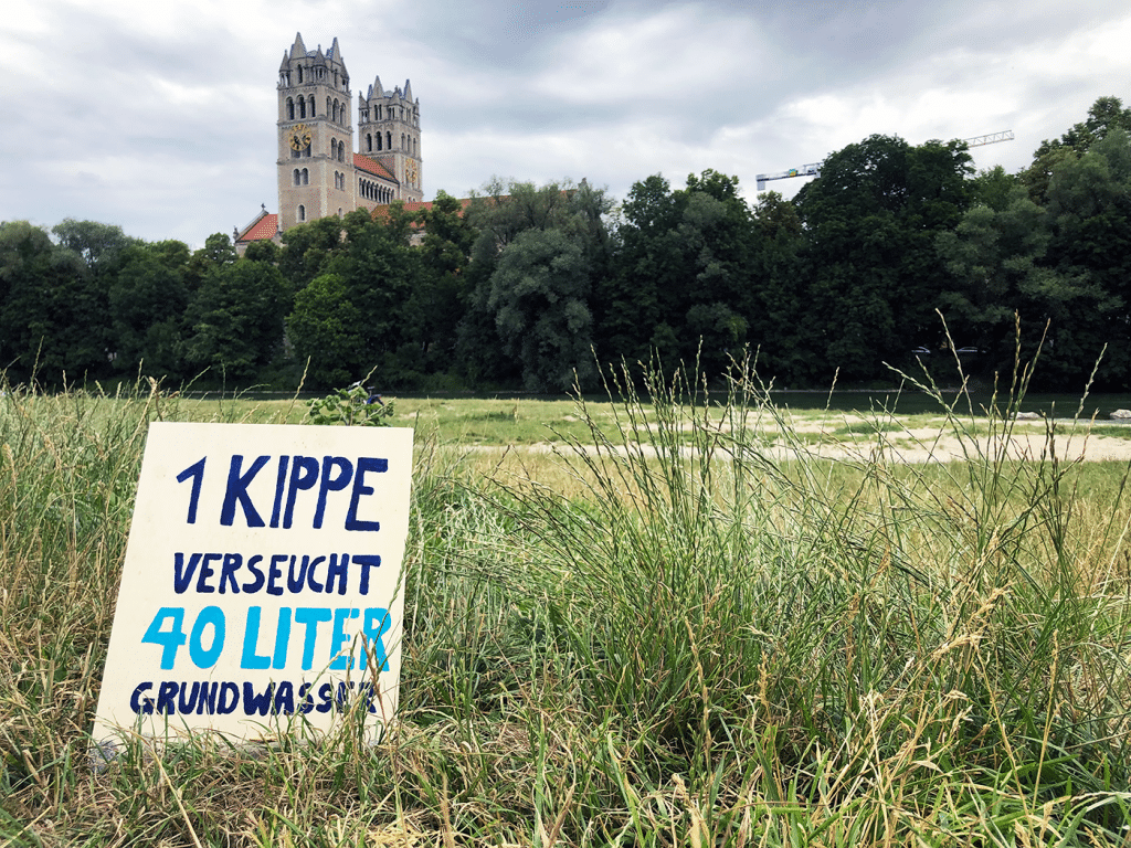 Isar Clean-Up: 3.500 Kippen auf 300 Meter!