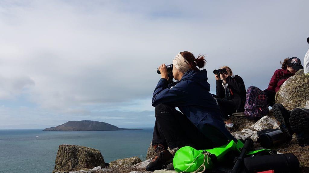 Volunteers auf Bardsey Island