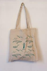 WDC- Tasche mit Wal- und Delfinmotiven